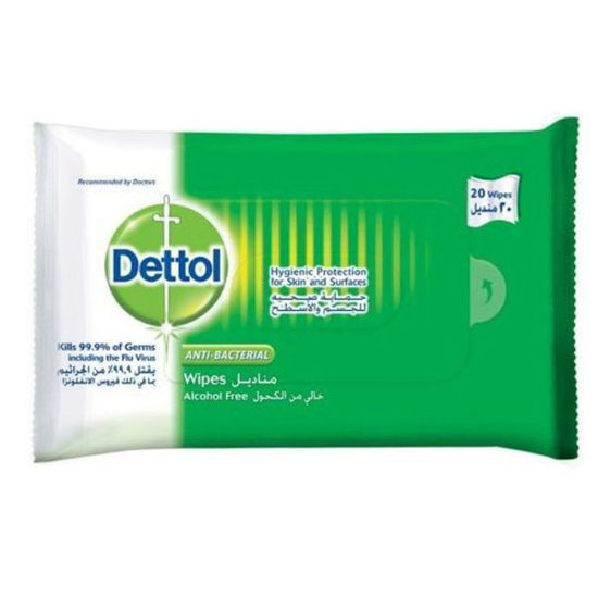 Picture of Dettol wet wipes 20 wipes