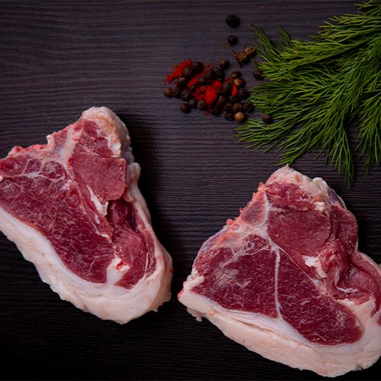Picture of T-bone lamb steak