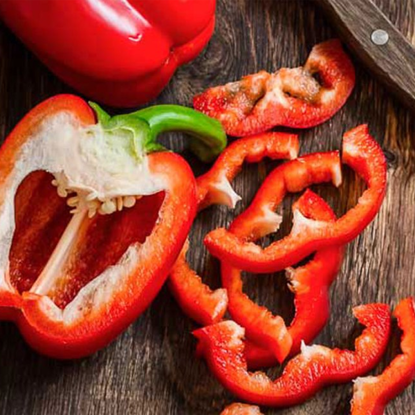 Picture of red bell peppers