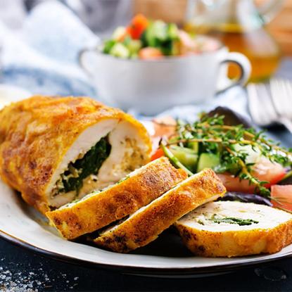 Picture of Eddy's Kitchen chicken stuffed spinach & gorgonzola 600 g