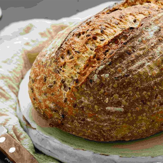 صورة ايديز كيتشن رغيف توسكان متعدد الحبوب من العجين المخمر