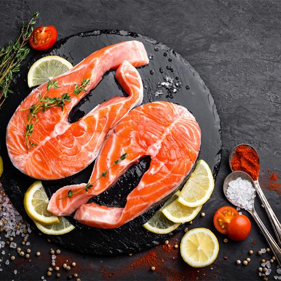 Picture of salmon steak 450 g