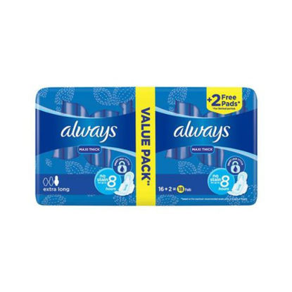 Picture of Always Maxi Thick Extra Long 3 * 1 Double 18 Pads 10% discount