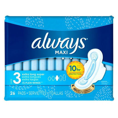 Picture of Always Maxi Thick Jumbo 26 Pads Extra Long 3 * 1 + 10% discount