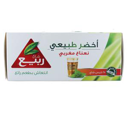 Picture of Rabea Green Tea Moroccan Mint 25 Teabags