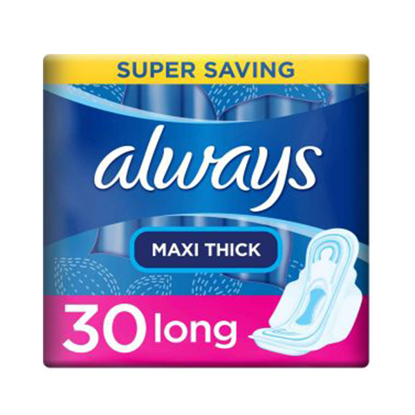 Picture of Always Maxi Thick Jumbo 30 Long Pads 3 * 1 + 10% discount