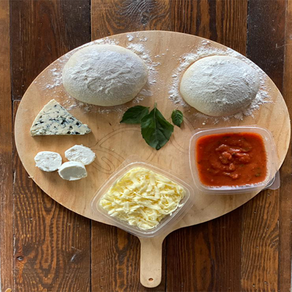 Picture of Mix cheese pizza ingredients