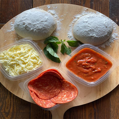 Picture of ٍSalami pizza ingredients