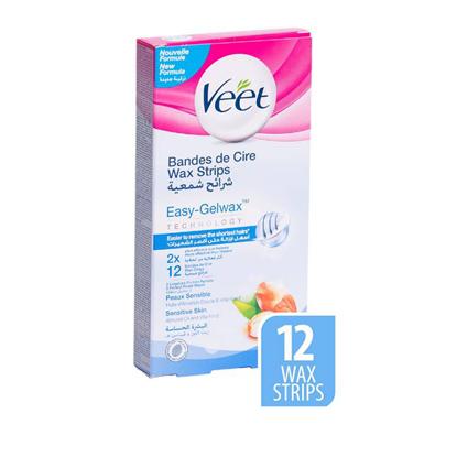 Picture of Veet body wax strips sensitive 12 s