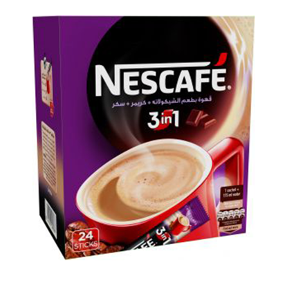Picture of (Nescafe 3 * 1 chocolate (24 Sachets