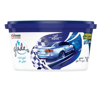 Picture of Glade mini gel air fresher for car - aqua (70 g) ..