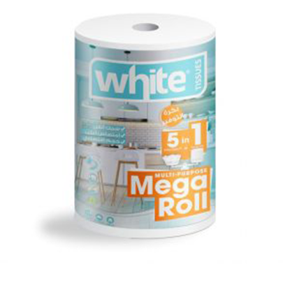 Picture of White mega roll kitchen towels (5*1) ..