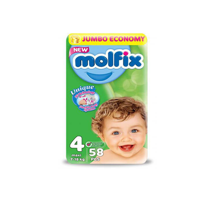 """Picture of """"Molfix Baby Diapers Size 4 """"58 diapers"""