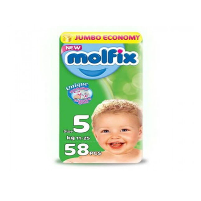 """Picture of """"Molfix Diapers Junior Size 5 """"58 diapers"""