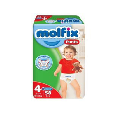 """Picture of """"Molfix Pants Diapers Size 4 Maxi """"58 diapers"""