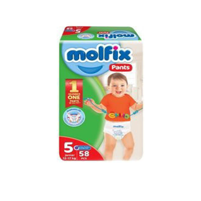 """Picture of """"Molfix Pants Diapers Size 5 Junior """"58 diapers"""