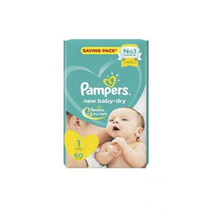 """Picture of """"Pampers Size 1 Newborn """"60 diapers"""