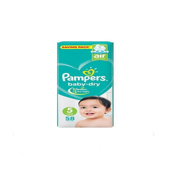 """Picture of """"Pampers Size 5 Junior """"58 diapers"""